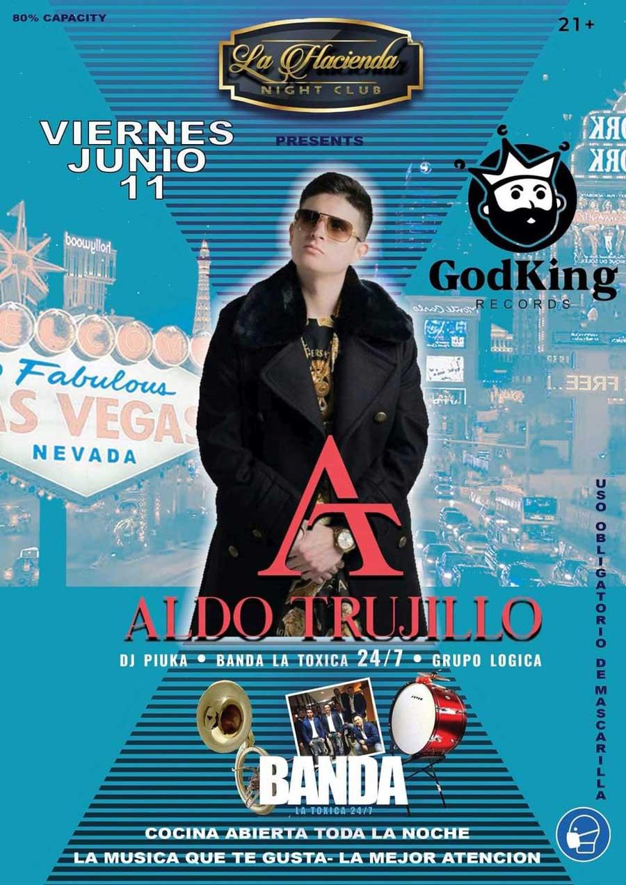 Aldo Trujillo en Las Vegas dentro de La Hacienda Nightclub